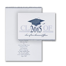Stylish Graduation Thank You Card and Envelope